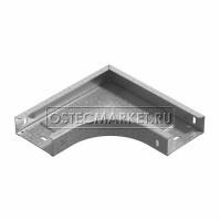 Угол горизонтальный 90 град. к лотку ПЛК 100х60 (1,5 мм)